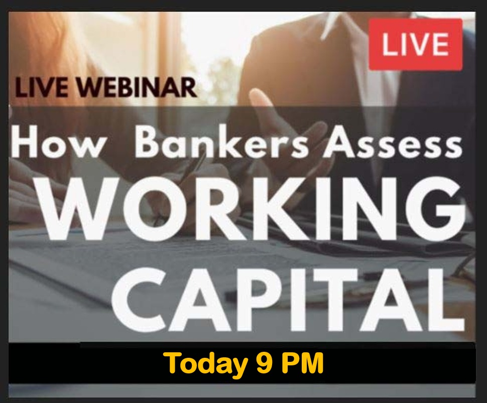LIVE Webinar on How to Assess Working Capital as a Banker cover