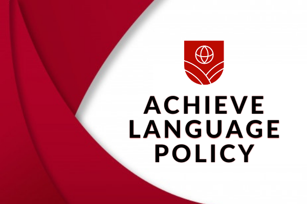 Achieve Language Policy cover