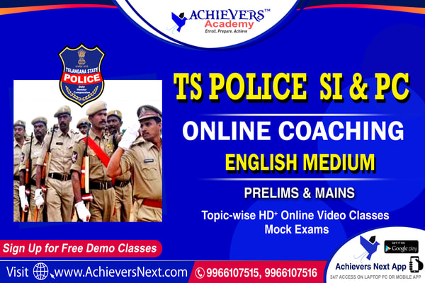 TS SI Constable Online Classes in English cover