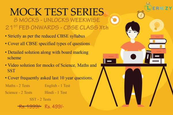 Free LernEzy's (CBSE class 10th) National Level Mock Test Series cover