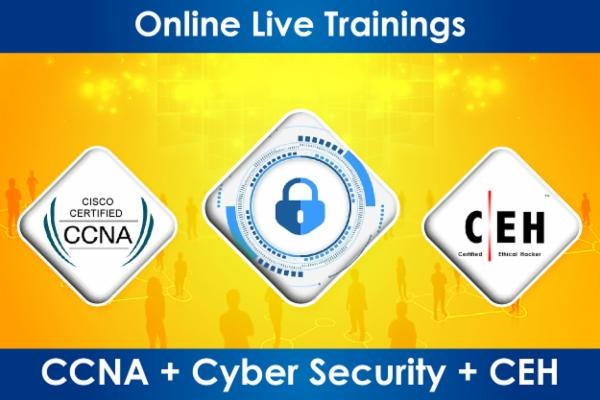 3 in 1: CCNA + Cyber Security + CEH cover