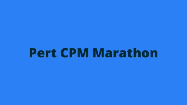 RSMSSB JE Pert CPM Marathon Notes cover