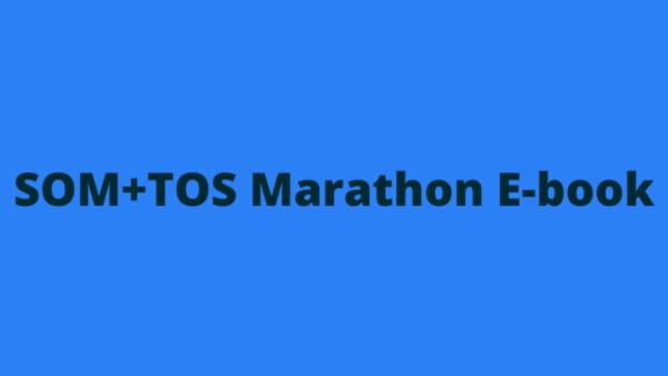 RSMSSB JE SOM+TOS Marathon Notes cover