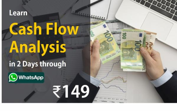 Learn Cash Flow Analysis in 2 Days through Whatsapp cover