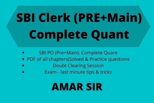 SBI CLERK (Pre + Main): Complete Quant cover