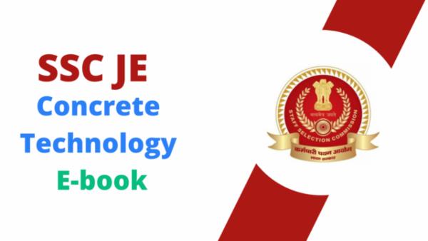 SSC JE Concrete Technology PDF cover