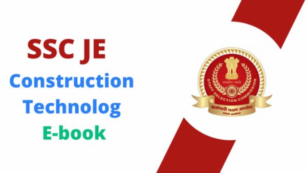 SSC JE Construction Technology PDF cover