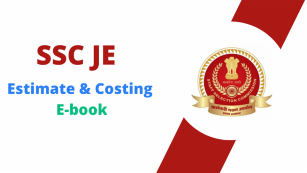 SSC JE Estimate & Costing PDF cover