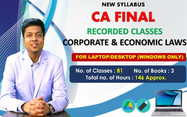 CA FINAL PAPER 4 : CORPORATE AND ECONOMIC LAWS - FOR LAPTOP/DESKTOP (WINDOWSONLY) cover