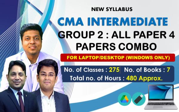 CMA INTER - GROUP 2 - ALL PAPERS COMBO - FOR LAPTOP/DESKTOP (WINDOWSONLY) cover