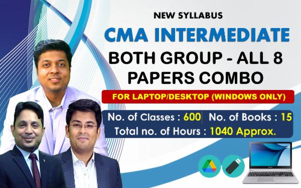 CMA INTER - BOTH GROUP - ALL 8 PAPERS COMBO - FOR LAPTOP/DESKTOP (WINDOWSONLY) cover