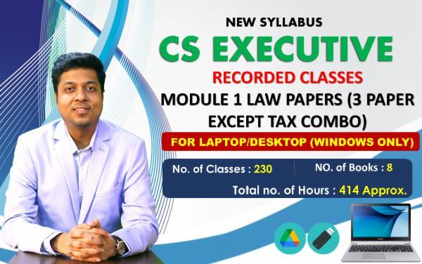 CS EXECUTIVE - MODULE 1 COMBO EXCEPT TAX COMBO - FOR LAPTOP/DESKTOP (WINDOWS ONLY) cover