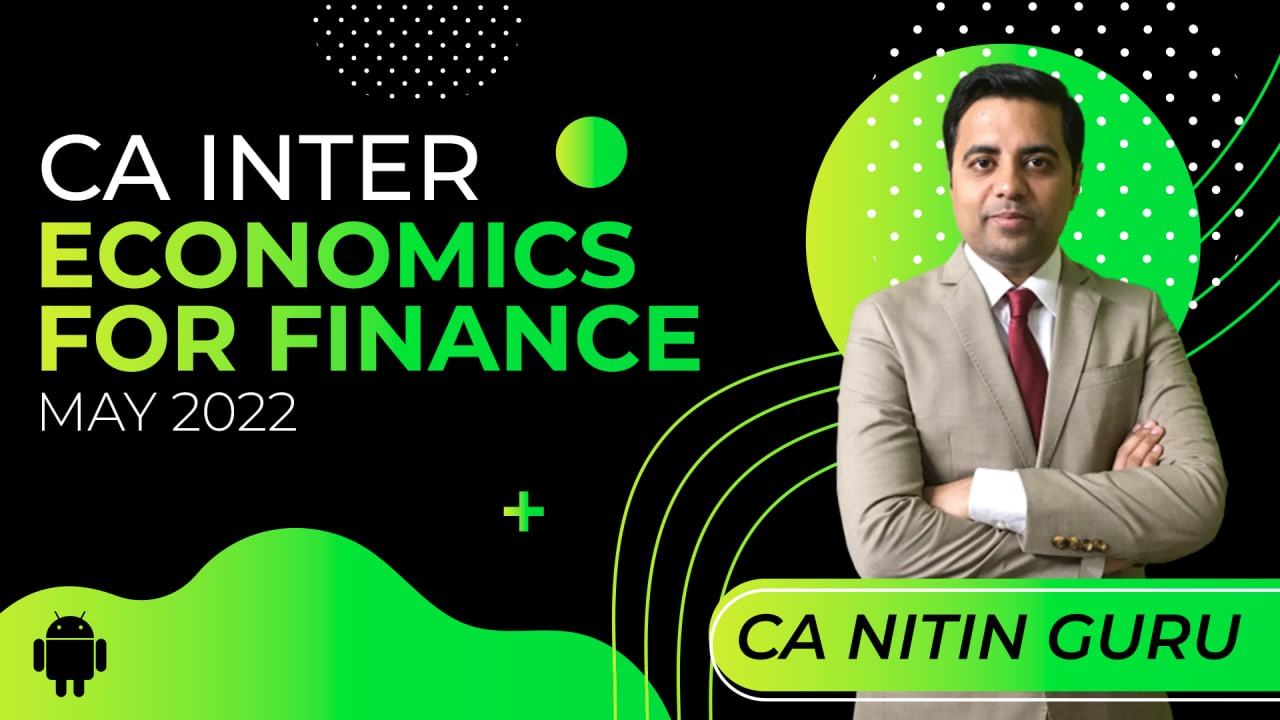 CA Inter Economics For Finance for May 2022-Android App cover