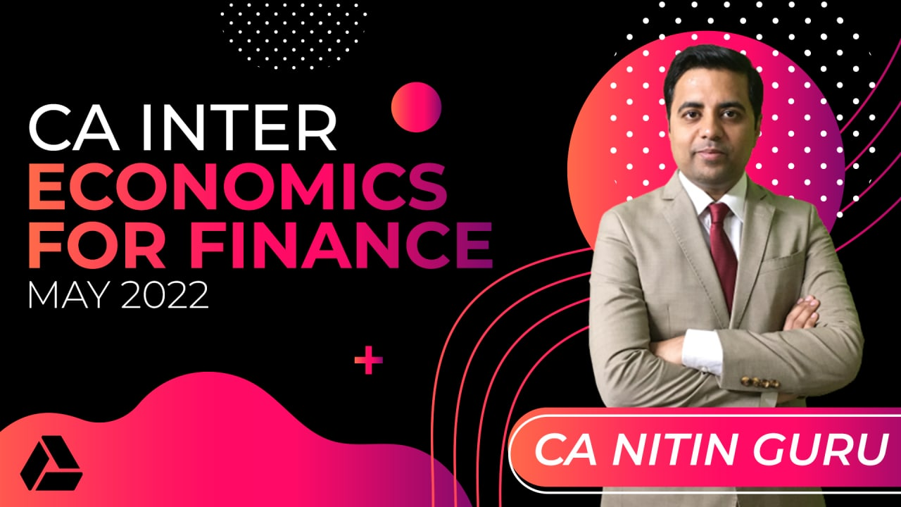 CA Inter Economics For Finance for May 2022 -Online Classes cover