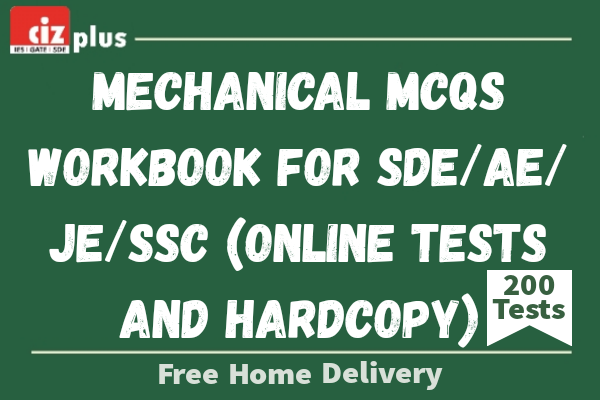 Mechanical MCQs Workbook for SDE/AE/JE/SSC (Online Tests And Hardcopy) cover