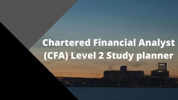 Chartered Financial Analyst (CFA) Level 2 Study Planner cover