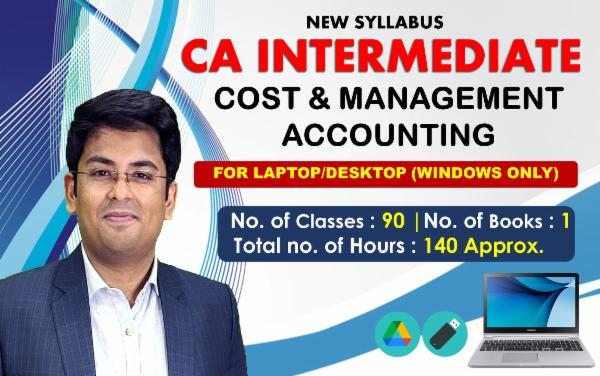 CA INTER PAPER 3 : COST & MANAGEMENT ACCOUNTING - FOR LAPTOP/DESKTOP (WINDOWS ONLY) cover