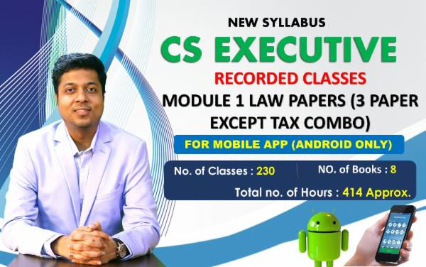 CS EXECUTIVE - MODULE 1 COMBO EXCEPT TAX COMBO - FOR MOBILE APP (ANDROID ONLY) cover