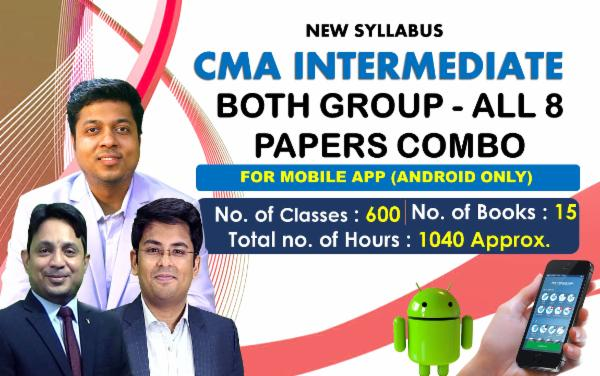 CMA INTER - BOTH GROUP - ALL 8 PAPERS COMBO - FOR MOBILE APP (ANDROID ONLY) cover