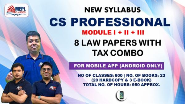 CS PROFESSIONAL - ALL 9 PAPER COMBO WITH TAX - FOR MOBILE APP (ANDROID ONLY) cover