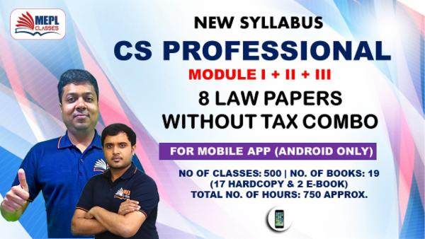 CS PROFESSIONAL - ALL 8 PAPER COMBO EXCEPT TAX - FOR MOBILE APP (ANDROID ONLY) cover