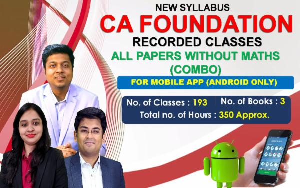 CA Foundation All PAPERS WITHOUT MATHS - FOR MOBILE APP (ANDROID ONLY) cover