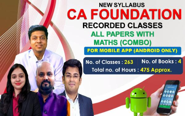 CA Foundation All PAPER WITH MATHS - FOR MOBILE APP (ANDROID ONLY) cover