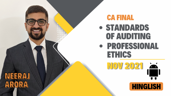 CA Final Standards of Auditing & Professional Ethics - Nov 2021- Mobile App cover