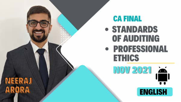 CA Final Standards of Auditing & Professional Ethics - Nov 2021- Mobile App (English) cover