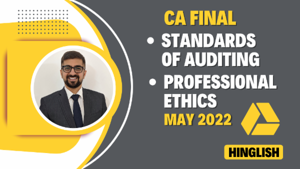 CA Final Standards of Auditing & Professional Ethics - May 2022- Google Drive cover