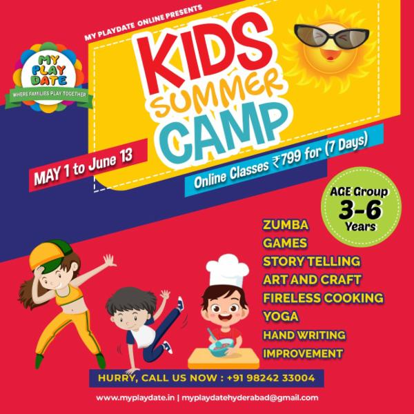 Summer Camp for kids 11 am cover