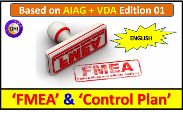 FMEA (AIAG+VDA) and Control Plan - Edition 01 (English) cover