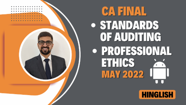CA Final Standards of Auditing & Professional Ethics - May 2022- Mobile App cover