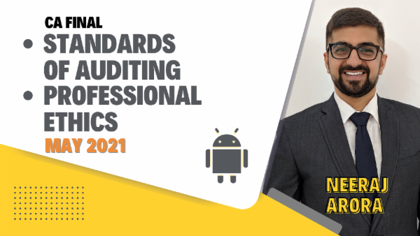 CA Final Standards of Auditing & Professional Ethics - May 2021- Mobile App cover
