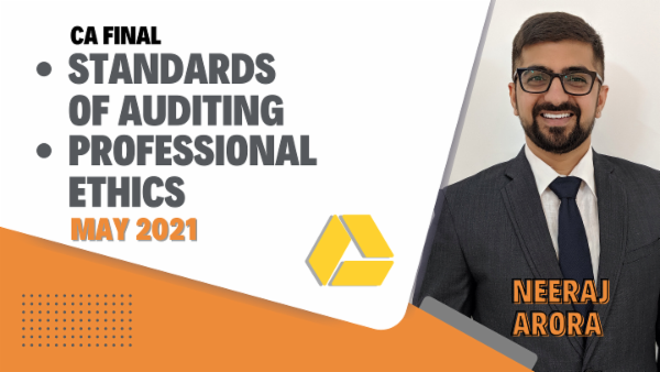 CA Final Standards of Auditing & Professional Ethics - May 2021- Google Drive cover