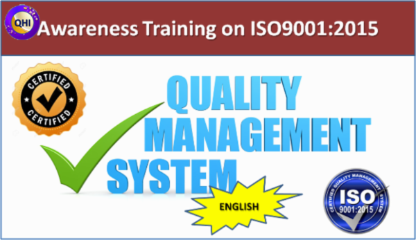 Awareness Training on Quality Management System (ISO9001:2015) - English cover