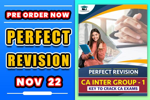 Perfect Revision : CA Inter Group 1 Revision Book (Notes) cover