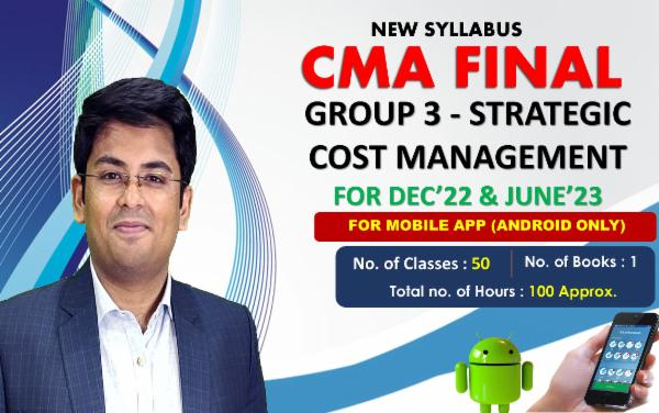 CMA FINAL PAPER 15 - STRATEGIC COST MANAGEMENT - FOR MOBILE APP (ANDROID ONLY) - FACE TO FACE (LIVE AT HOME) cover