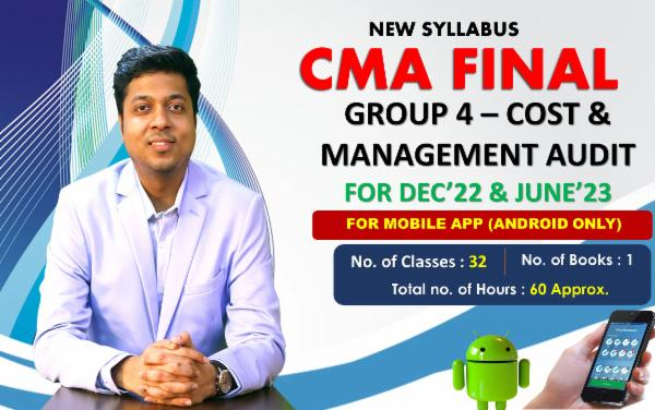 CMA FINAL PAPER 19 - COST AND MANAGEMENT AUDIT - FOR MOBILE APP (ANDROID ONLY) - FACE TO FACE (LIVE AT HOME) cover