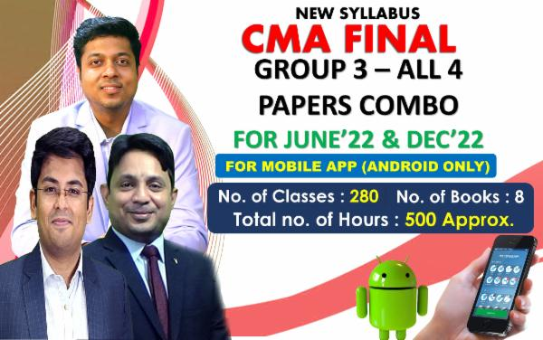 CMA FINAL - GROUP 3 ALL PAPERS COMBO - FOR MOBILE APP (ANDROID ONLY) LIVE ONLINE FACE TO FACE cover