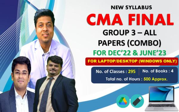 CMA FINAL - GROUP 3 ALL PAPERS COMBO - FOR LAPTOP/DESKTOP (WINDOWS ONLY) LIVE ONLINE FACE TO FACE cover