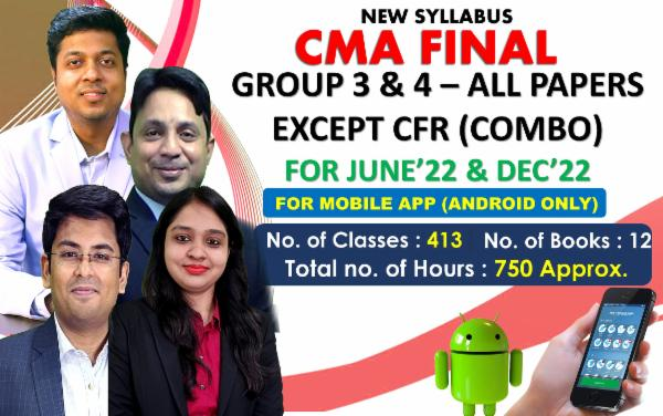 CMA FINAL - BOTH GROUP ALL PAPERS (EXCEPT CFR) COMBO - FOR MOBILE APP (ANDROID ONLY) FOR LIVE FACE TO FACE cover