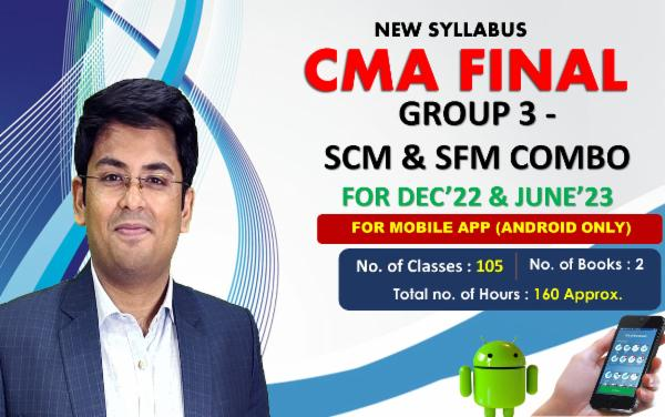 CMA FINAL PAPER 14 & 15 - STRATEGIC FINANCIAL MANAGEMENT & STRATEGIC COST MANAGEMENT COMBO- FOR MOBILE APP (ANDROID ONLY)- FACE TO FACE (LIVE AT HOME) cover