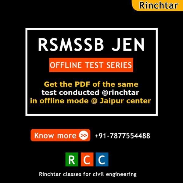RSMSSB JEN OFFLINE TEST (PDF) cover