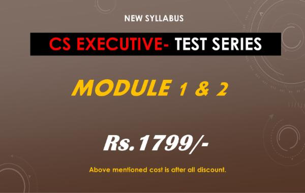 CS EXECUTIVE - TEST SERIES - BOTH MODULE COMBO cover