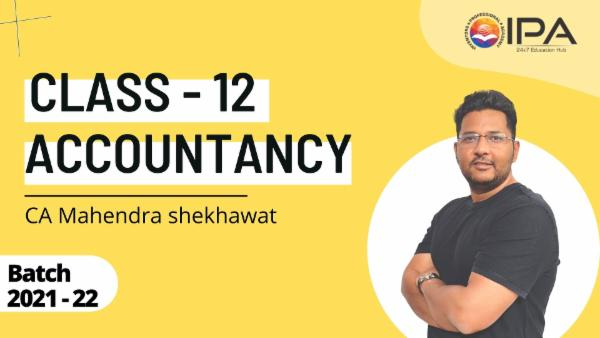 Class XII - Accountancy Complete Course cover