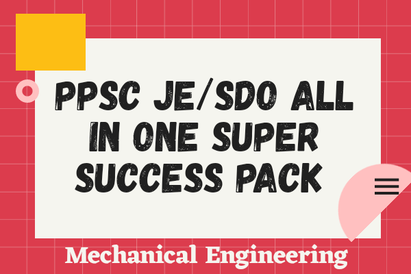 PPSC JE All In One Super Success Pack (Mechanical) cover