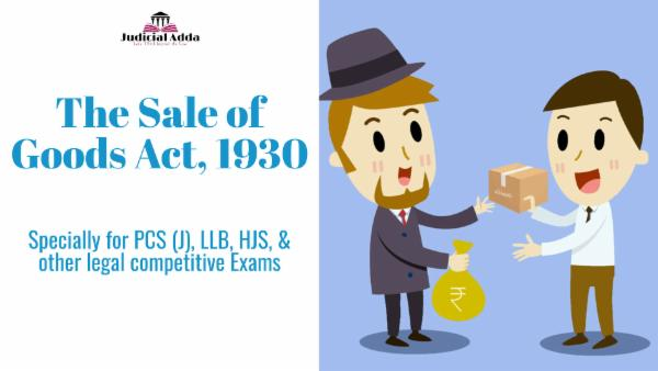 The Sale of Goods Act, 1930 cover