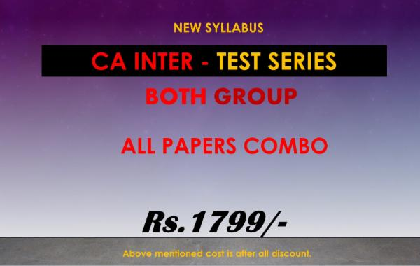 CA INTER - TEST SERIES - BOTH GROUPS - ALL PAPERS (COMBO) cover