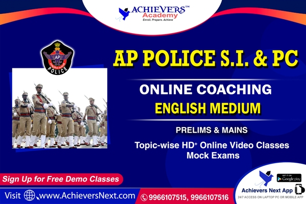 AP SI & PC Online Classes in English cover